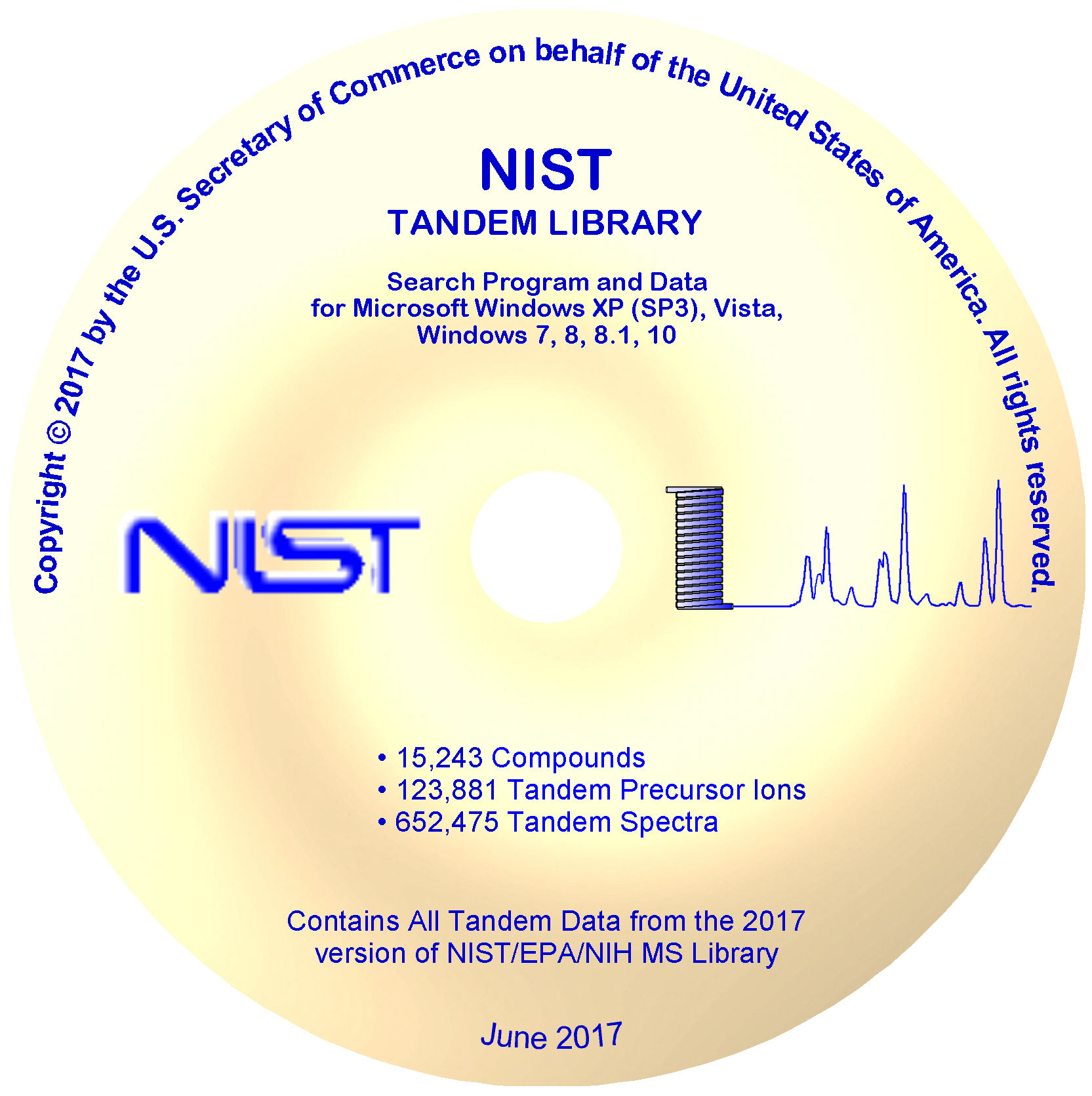 NIST17 Tandem (MS/MS) Library